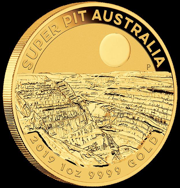 """1 oz Gold """" Super Pit """" Perth Mint 2019 in Kapsel - max 15.000"""
