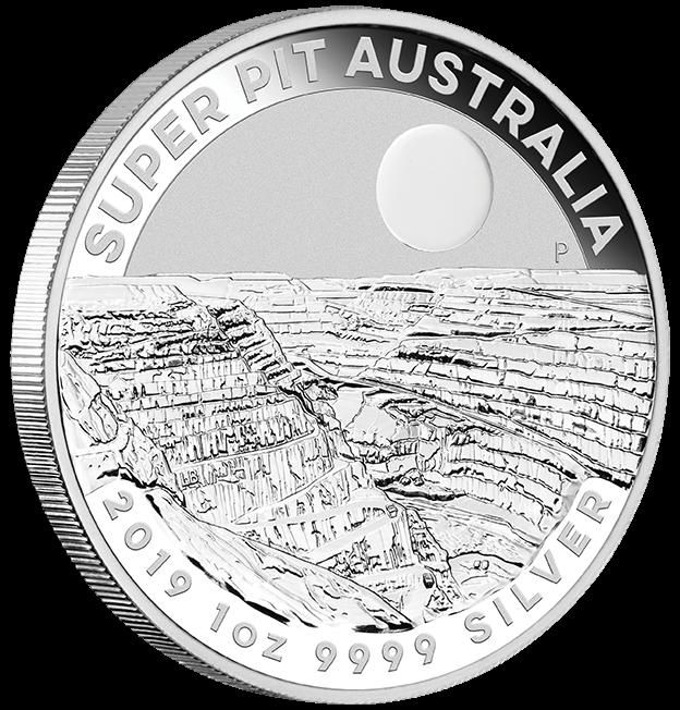 "1 oz Silber Perth Mint "" Super Pit "" 2019 ( diff.besteuert nach §25a UStG )"