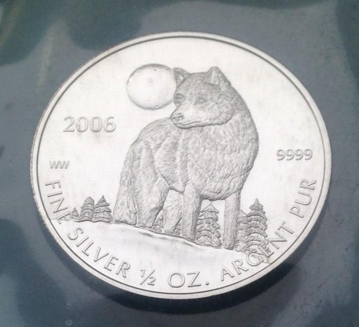 1/2 oz Silber Canada 2006