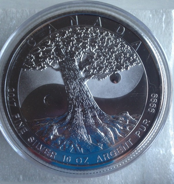 "10 oz Silber "" Tree of Life ""  50 CAD in Kapsel Royal Canadian Mint ( diff.besteuert nach §25a UStG )"
