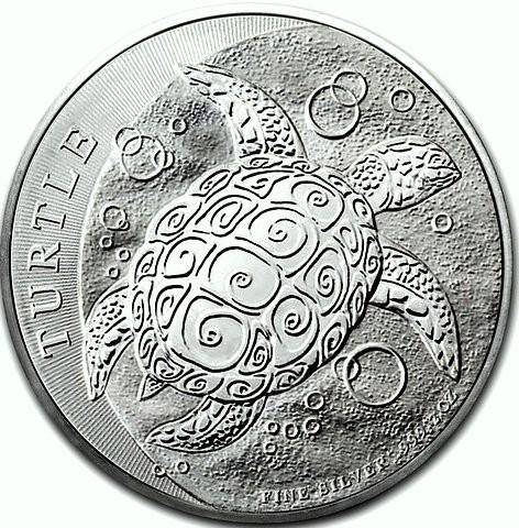 "5 oz Silber New Zealand Mint "" Niue Turtle 2018 "" ( diff.besteuert nach §25a UStG )"