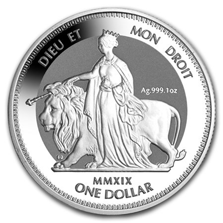 "1 oz Silber British Virgin Islands "" Una & the Lion "" Frosted - max 50.000 ( diff.besteuert nach §25a UStG )"