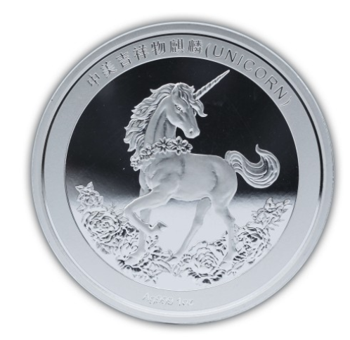 1 oz Silber China Unicorn 25th Aniversary Restrike ( 19% Mwst ) - max 5000 Stk