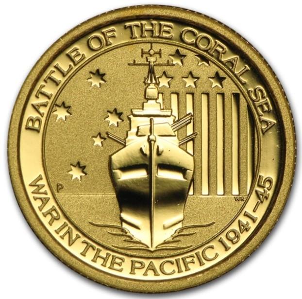 "1/10 oz Gold "" Coral Sea "" in Kapsel Perth Mint"