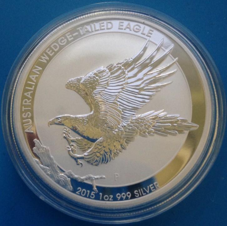 "1 oz Silber Australien Wedge-Tailed Eagle 2015 Perth Mint ""  ( diff.besteuert nach §25a UStG )"