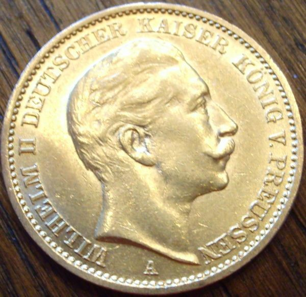 20 Mark Kaiserreich Wilhelm II - 7,16 Gramm Gold fein
