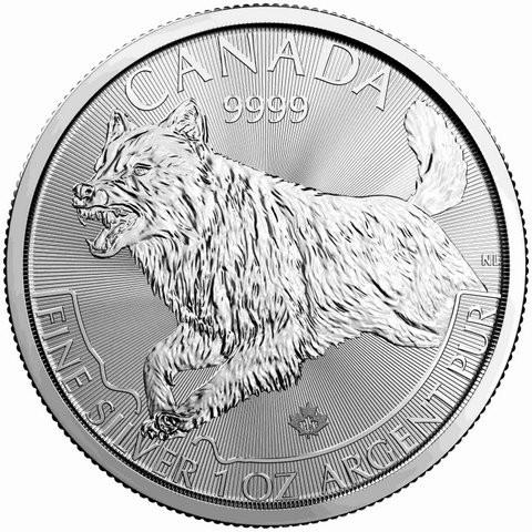 "1 oz Silber Canada 2018 Predator "" Wolf "" ( diff.besteuert nach §25a UStG )"
