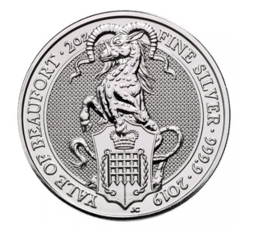 "2 oz Silber Royal Mint / United Kingdom "" Yale of Beaufort "" ( diff.besteuert nach §25a UStG )"