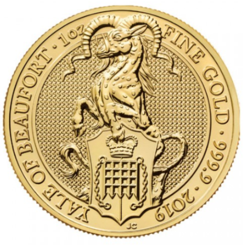 "1 oz Gold Royal Mint / United Kingdom "" Yale of Beaufort """