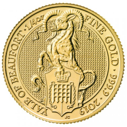 "1/4 oz Gold Royal Mint / United Kingdom "" Yale of Beaufort """