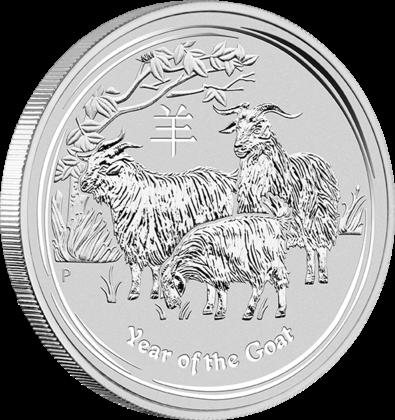 1 Kilogramm / 1000 Gramm Silber Australien Lunar II Ziege 2015 in Kapsel ( diff.besteuert nach §25a UStG )