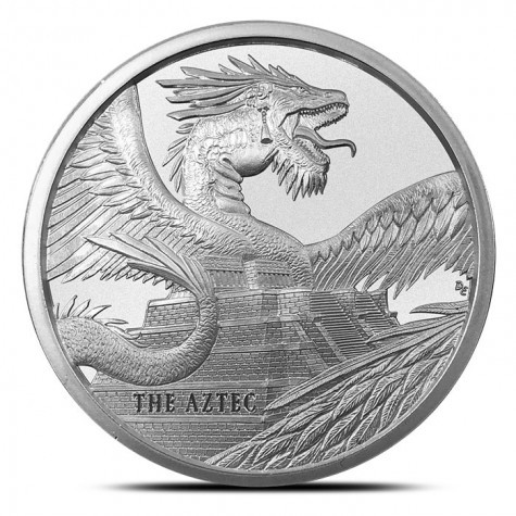 "1 oz Silber "" Aztec Dragon "" - Serie World of Dragons 1te Ausgabe ( 19% Mwst )"