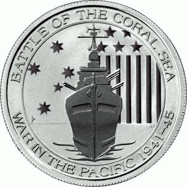 "1/2 oz Silber Australien Perth Mint "" Battle of the coral sea "" ( diff.besteuert nach §25a UStG )"
