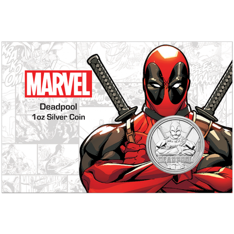 "1 oz Silber Perth Mint "" Deadpool - Marvel Comics "" in Coincard - max 1.000 ( diff.besteuert nach §25a UStG )"