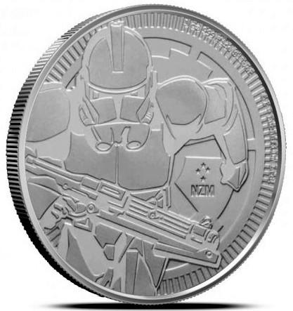 """1 oz Silber New Zealand Mint """" The Clone Trooper  """" 2019 ( diff.besteuert nach §25a UStG )"""