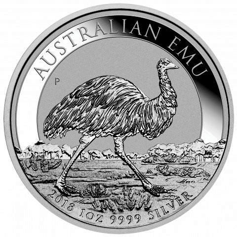 """1 oz Silber Perth Mint """" Emu 2018 """" in Kapsel - max Mintage 30.000 ( diff.besteuert nach §25a UStG )"""