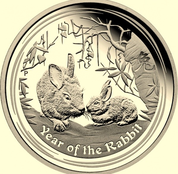 1 Kilogramm / 1000 Gramm Silber Lunar II Hase Perth Mint ( diff.besteuert nach §25a UStG )