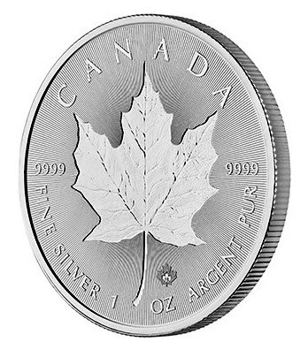 "1 oz Silber Maple Leaf 2018 "" Incuse Maple "" ( diff.besteuert nach §25a UStG )"
