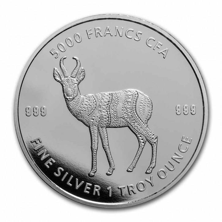 1 oz Silber Chad 2021 Mandala Antilope - max. Mintage 10.000 ( diff.besteuert nach §25a UStG )