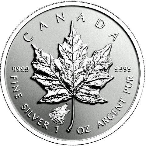 "1 oz Silber Maple Leaf Reverse Proof "" Privy Mark Wolf  ""  ( diff.besteuert nach §25a UStG )"