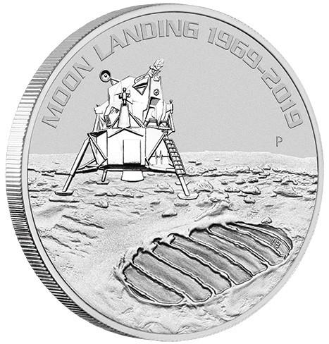 1 oz Silber Mondlandung in Kapsel Perth Mint - max 50.000 ( diff.besteuert nach §25a UStG )