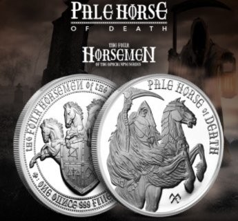 1 oz Silber Four Horsemen of the Apocalypse - Pale Horse of Death ( 4te / letzte Ausgabe ) ( 19% Mwst )