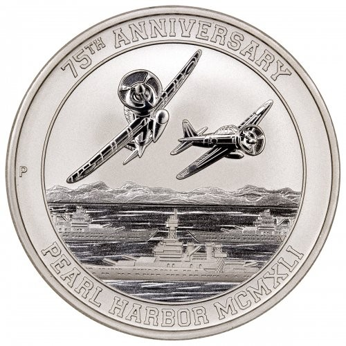 "1 oz Silber Perth Mint Tuvalu "" 75 Jahre Pearl Harbor / Zero Fighters "" in Kapsel  ( diff.besteuert nach §25a UStG )"