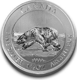 1,5 oz Silber Canada Polarbär 2013 ( entnommen aus ungeöffneten Tubes ) ( diff.besteuert nach §25a UStG )