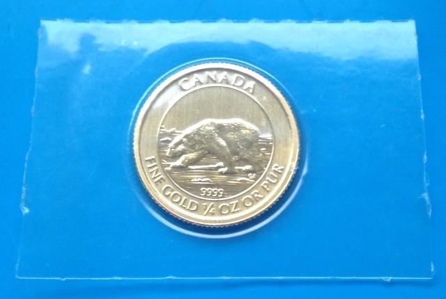 1/4 oz Gold Canada Polarbär mit Jungtier 2015 ( Royal Canadian Mint )