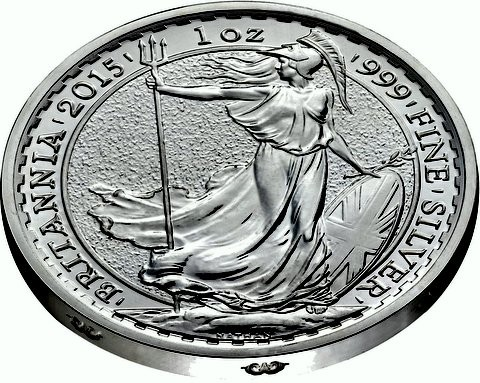 1 oz Silber Britannia 2015 Lunar Sheep
