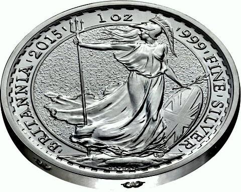 "1 oz Silber Britannia 2015 Lunar Sheep "" Ram on rim ""  ( diff.besteuert nach §25a UStG )"
