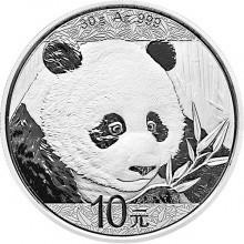 30 Gramm Silber China Panda 2018 in Kapsel ( diff.besteuert nach §25a UStG )