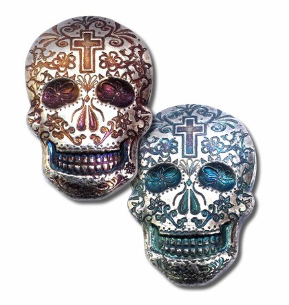 """2 oz Silber USA  Monarch Metals """" Skull Cross / Kreuz Bar """"  ( inkl. 19% Mwst )"""