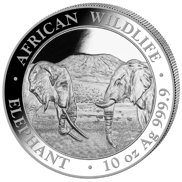 10 oz Silber Somalia Elefant 2020 ( diff.besteuert nach §25a UStG )