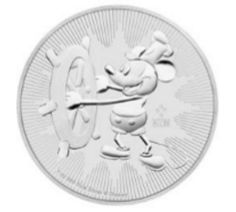 "1 oz Silber New Zealand Mint "" Steamboat Willie "" ( diff.besteuert nach §25a UStG )"
