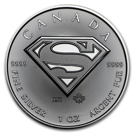 1 oz Silber Superman Royal Canadian Mint  ( diff.besteuert nach §25a UStG )