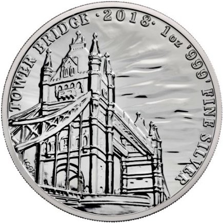 "1 oz Silber Royal Mint "" Tower Bridge "" in Kapsel - Landmarks of Britain - max Mintage 50.000 ( diff.besteuert nach §25a UStG )"
