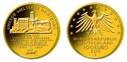 "100 Euro Gold Deutschland "" Wartburg 2011 "" in Kapsel / inkl. Box / COA"