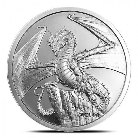"1 oz Silber "" Welsh Dragon "" - Serie World of Dragons 2te Ausgabe ( 19% Mwst )"