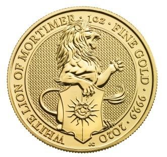 "1/4 oz Gold Royal Mint / United Kingdom "" White Lion of Mortimer"""