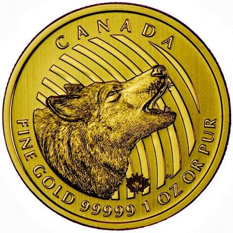 1 oz Gold 99999 Canada Wolf in Originalblister inkl. Sicherheitsmerkmal