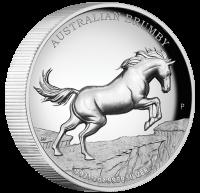 "2 oz Silber High Relief Proof Australien Perth Mint "" Brumby "" in Kapsel 2021 - max. 1.000 Stk ( diff.besteuert nach §25a UStG )"