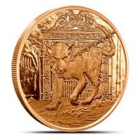 1 oz Copper/Kupfer Nordic Creatures Hellhound ( 19% Mwst )
