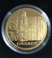 """100 Euro Gold Deutschland 2020 """" Einigkeit """" in Kapsel / inkl. Box / COA"""