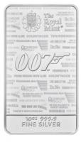 10 oz Silber Barren The Royal Mint James Bond  - max. 6.000  - ( inkl. gültiger gesetzl. Mwst )