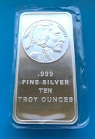 "10 oz Silber "" Buffalo Bar / Liberty "" in Folie ( 19% Mwst )"