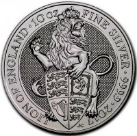 "10 oz Silber Royal Mint / Queen's Beast "" Lion of England "" in Kapsel ( diff.besteuert nach §25a UStG )"