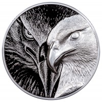 10 oz Majestic Eagle Incuse High Relief Silver Round ( inkl. gültiger gesetzl. Mwst )