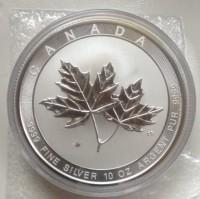 "10 oz Silber Canada "" Magnificent Maple Leaf 2020 "" in Kapsel ( diff.besteuert nach §25a UStG )"