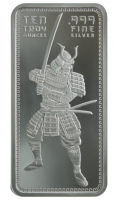 "10 oz Silber "" Samurai Warrior "" in Folie ( 19% Mwst )"